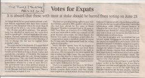 Votes for Expats - The Times 280416 001